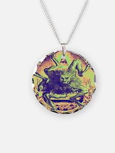 Sun Demon 6x6_apparel.jpeg Necklace Circle Charm