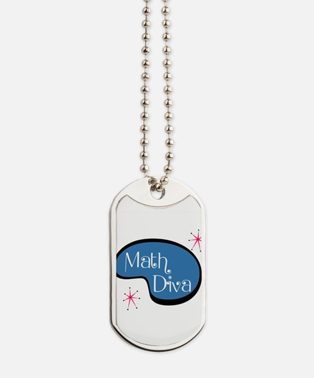 Math Diva Dog Tags