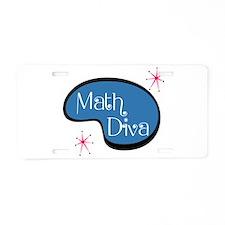 Math Diva Aluminum License Plate