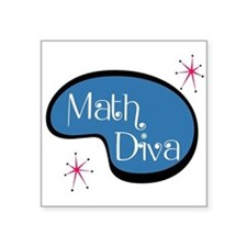 "Math Diva Square Sticker 3"" x 3"""