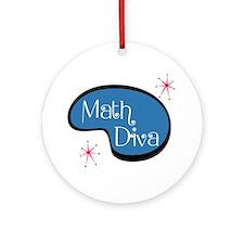 Math Diva Ornament (Round)