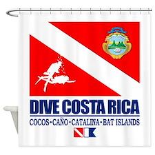 Dive Costa Rica Shower Curtain