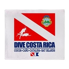 Dive Costa Rica Throw Blanket
