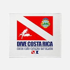 Dive Costa Rica Throw Blanket
