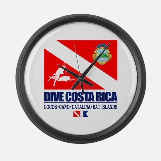 Dive Costa Rica Large Wall Clock
