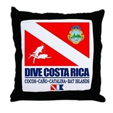 Dive Costa Rica Throw Pillow