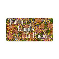 Harvest Moons Twirling Daisies Aluminum License Pl