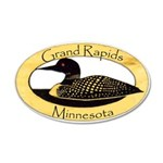Grand Rapids Loon 35x21 Oval Wall Decal