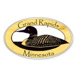 Grand Rapids Loon Sticker (Oval)
