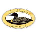 Grand Rapids Loon Sticker (Oval 50 pk)
