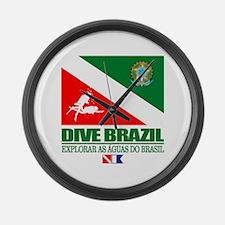 Dive Brazil Large Wall Clock