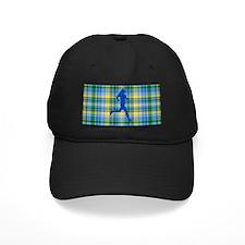 Runners Plaid female blue Baseball Hat