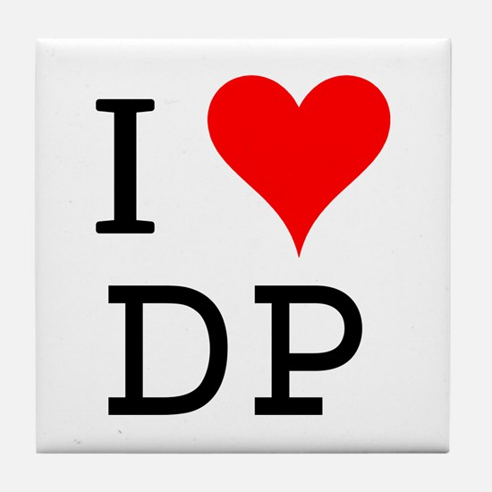 I Love DP Tile Coaster