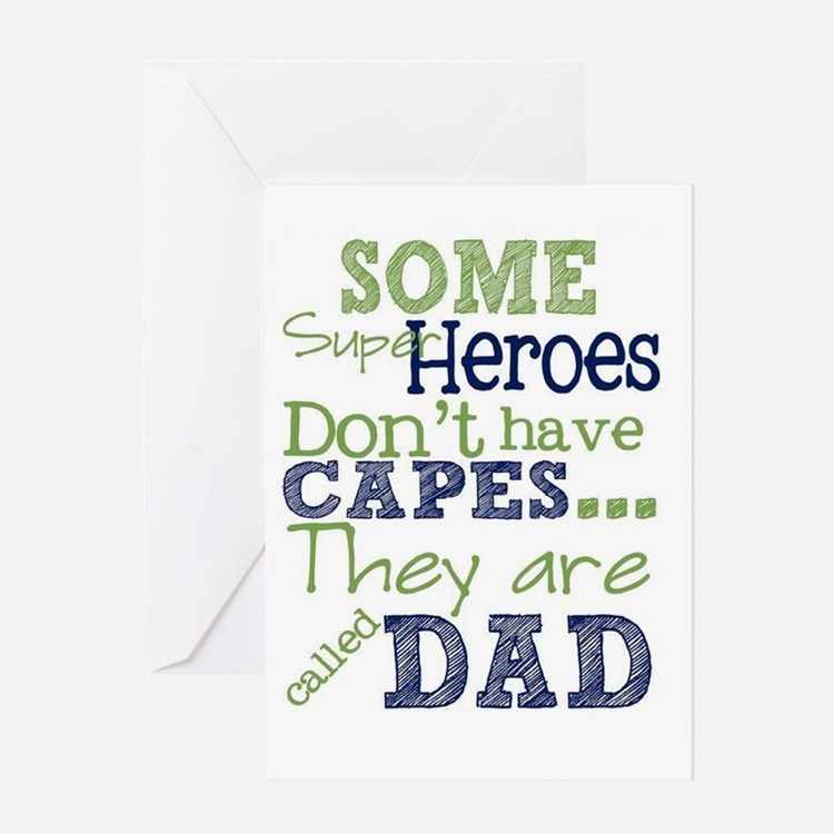 Super Dad Card Greeting Cards