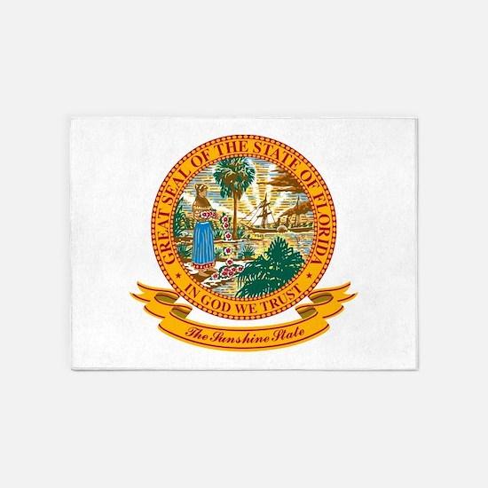 Florida Seal.png 5'x7'Area Rug