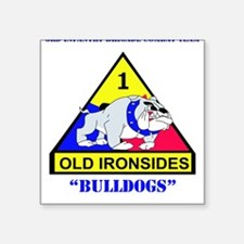 "Cute Old ironsides Square Sticker 3"" x 3"""