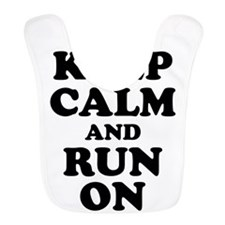 Keep Calm Run On Bib