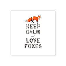 """Fox Square Sticker 3"""" x 3"""""""