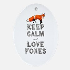 Fox Ornament (Oval)