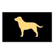 3-yellowlabsticker Decal