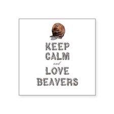 "Wood Badge Beaver Square Sticker 3"" x 3"""