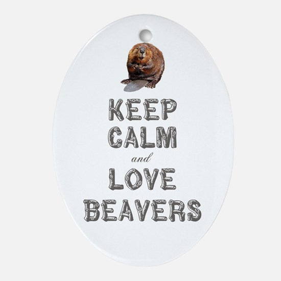 Wood Badge Beaver Ornament (Oval)