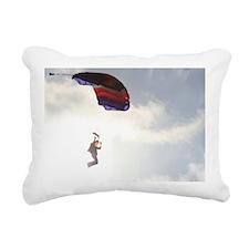 Come Fly-Skydiver1 Rectangular Canvas Pillow