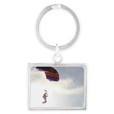 Come Fly-Skydiver1 Landscape Keychain