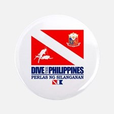 "Dive The Philippines 3.5"" Button"