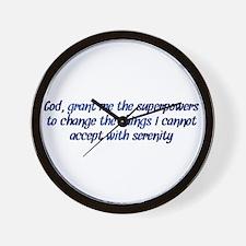 Better Serenity Prayer Wall Clock