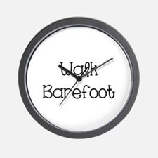 Walk Barefoot Wall Clock