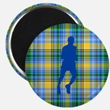 Runners Plaid male blue Magnet