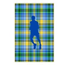 Runners Plaid male blue Postcards (Package of 8)
