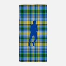 Runners Plaid male blue Beach Towel