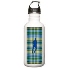 Runners Plaid male blu Water Bottle