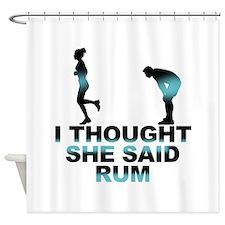 Cute Sarcasm Shower Curtain