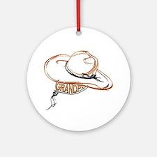 Cowboy Grandpa Round Ornament