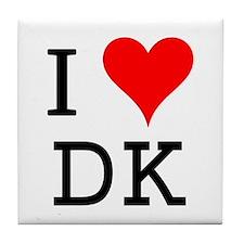 I Love DK Tile Coaster