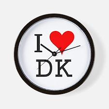 I Love DK Wall Clock