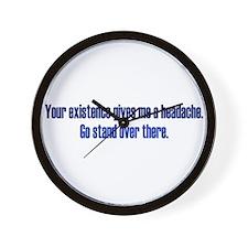 Headache Existence Wall Clock