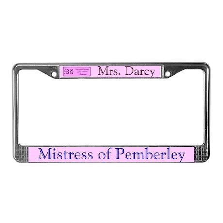 Jane Austen Mrs. Darcy License Plate Frame