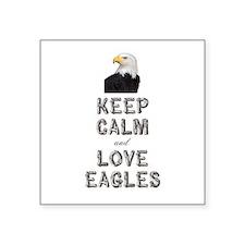 """Eagle Square Sticker 3"""" x 3"""""""