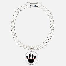 in loving memory dog black Bracelet