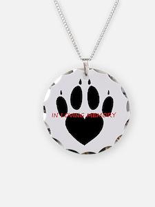in loving memory dog black Necklace