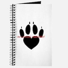 in loving memory dog black Journal