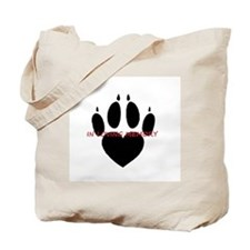 in loving memory dog black Tote Bag
