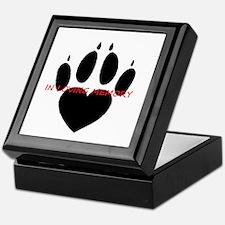 in loving memory dog black Keepsake Box