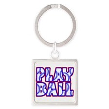 Play Ball Square Keychain Keychains