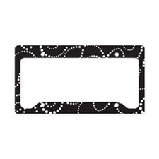 Black and White Floral License Plate Holder