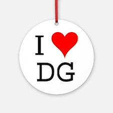 I Love DG Ornament (Round)
